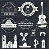 Kraju Meksyk etykietki szablon emblemata element dla twój produktu, projekta, sieci lub wiszącej ozdoby zastosowań z tekstem, Obrazy Stock
