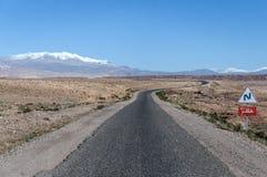 kraju Morocco droga Zdjęcie Stock