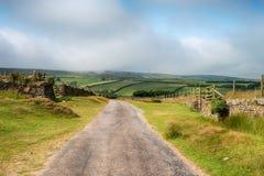 Kraju pas ruchu na Exmoor Obraz Royalty Free