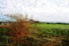 Kraju prowadnikowy abstrakt Obraz Royalty Free