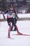 kraju przecinająca Daniel niemiecka heun narciarka Zdjęcie Stock