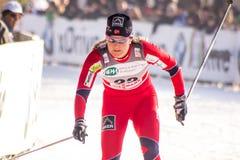 kraju przecinająca Milano rasy sprintu kobieta Zdjęcia Royalty Free