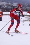 kraju przecinający gjeitnes Kari narciarki vikhagen Fotografia Stock