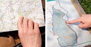 Kraju spaceru mapa Fotografia Royalty Free