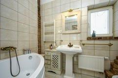 Kraju stylu łazienka Zdjęcia Stock