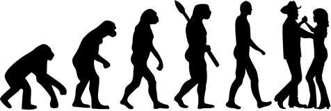 Kraju tana ewolucja royalty ilustracja
