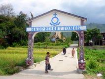 Kraju utrzymanie w Tomok, Jeziorny Toba Sumatra Zdjęcia Stock