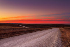 Kraju żwiru drogi horyzont Zdjęcie Stock