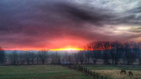 Kraju wschód słońca Obraz Stock
