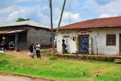 Kraju życie w Uganda, Afryka Obraz Royalty Free