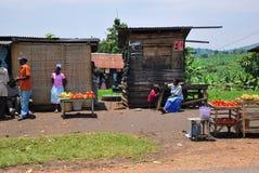 Kraju życie w Uganda, Afryka Fotografia Stock