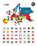 krajów flaga map krajowy kontur Fotografia Stock