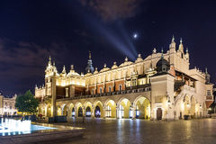 Kraków Cloth Hall Sukiennice at night Stock Images