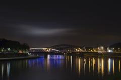 Krakà ³ w & x28; Cracow& x29; nocą, Polska Zdjęcie Royalty Free