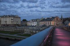 Krakà ³ w; Cracow; vid natt Polen Royaltyfria Bilder