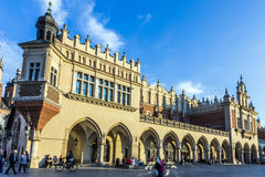 Kraków Cloth Hall Sukiennice at the Main Market Square. KRAKOW, POLAND - OCT 7, 2014: Kraków Cloth Hall Sukiennice at the Main Market Square in the Old Stock Image