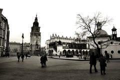 Kraków en blanco y negro foto de archivo libre de regalías