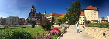 Kraków, Polonia - castillo real de Wawel Fotos de archivo libres de regalías