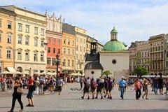 Kraków, Polonia - cuadrado de mercado principal Imagen de archivo libre de regalías