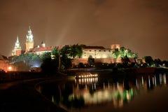 Kraków, Polonia - vida nocturna Fotos de archivo libres de regalías