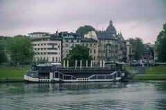 Kraków y río viejos de Wistula Fotos de archivo