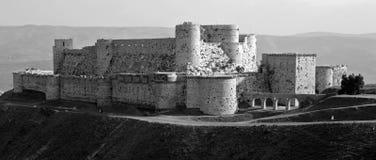 Krak de Chevaliers Castelo, Syria fotos de stock