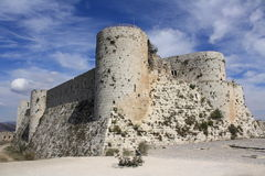 Krak de Chevaliers in Syria Stock Photo