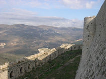 Krak des Chevaliers. The castle of crusaders, Syria Stock Images