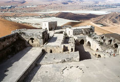 Krak des Chevaliers. Syria: Krak des Chevaliers, the inner court seen from the south. Krak des Chevaliers is a Crusader castle in Syria and one of the most Stock Images