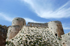 Krak des Chevaliers, crusaders fortress, Syria Stock Image
