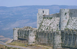 Krak des Chevaliers, crusaders fortress, Syria Stock Photo