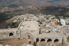 Krak des Chevaliers - the fortress of Crusaders. stock images