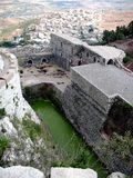 Krak des Chevaliers. Moat with water Stock Photo