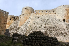 Krak des Chevaliers, Syria royalty free stock photography