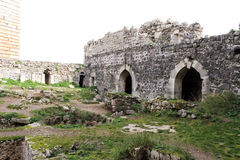 Krak des Chevaliers, Syria Royalty Free Stock Images