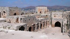 Krak des-Chevaliers. Syrien Royaltyfria Foton