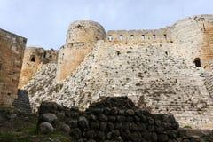 Krak des-Chevaliers, Syrien Royaltyfri Fotografi