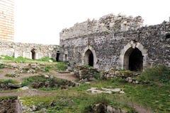 Krak des-Chevaliers, Syrien Royaltyfria Bilder