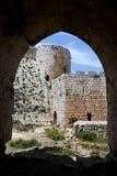 krak syria för fästning för chevalierskorsfararedes Arkivfoto