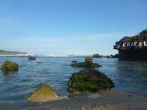 Krakal strand royaltyfri fotografi