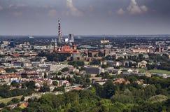 Krakau, Ansicht vom Hügel Lizenzfreie Stockbilder