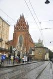 Krakau 19,2014 Augustus: Dominicaanse Kerk in de Stad van Krakau, Polen Stock Foto's
