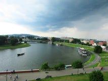 krakau Das Wawel-Schloss Stockbild