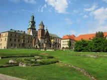 krakau Das Wawel-Schloss Lizenzfreies Stockfoto