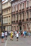 Krakau, de Kanoniczna-straat Stock Fotografie