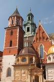 Krakau, de vroegere hoofdstad van Polen - de Wawel-kathedraal Stock Fotografie