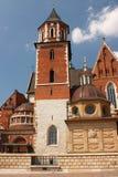 Krakau, de vroegere hoofdstad van Polen - de Wawel-kathedraal Royalty-vrije Stock Foto's
