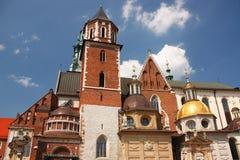 Krakau, de vroegere hoofdstad van Polen - de Wawel-kathedraal Stock Afbeeldingen