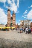 Krakau Glowny, de Basiliek van Heilige Mary ` s, Polen Royalty-vrije Stock Afbeeldingen