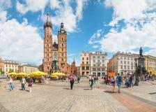 Krakau Glowny, de Basiliek van Heilige Mary ` s, Polen Royalty-vrije Stock Foto